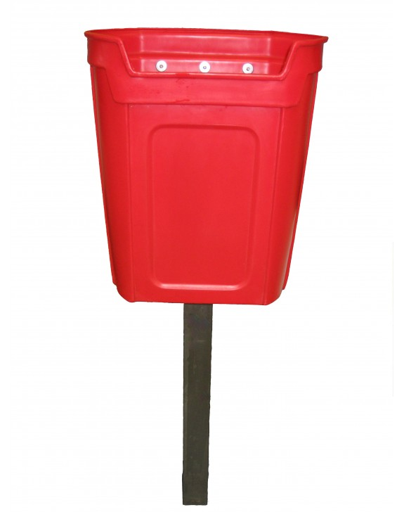 Ranmoor Post Mounted Litter Bin - 20 Litre