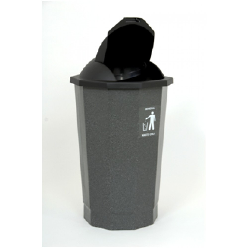 Eco Bank General Waste Bin With Flap