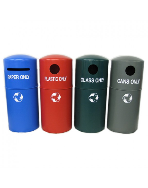 Hooded Recycling Bin